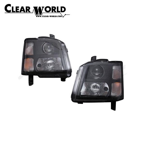 クリアワールド クリアヘッドランプ ブラックハウジング ワゴンR MC11S MC12S MC21S MC22S 1998/10~2003/09