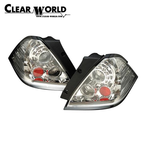 クリアワールド LEDユーロテールランプTYPE-2 インナークローム/クリアレンズ オデッセイ RB1 RB2 2003/10~2006/04 前期用