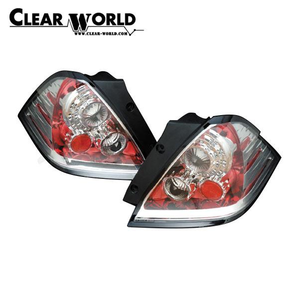 クリアワールド LEDユーロテールランプTYPE-2 インナーレッドクローム/クリアレンズ オデッセイ RB1 RB2 2003/10~2006/04 前期用