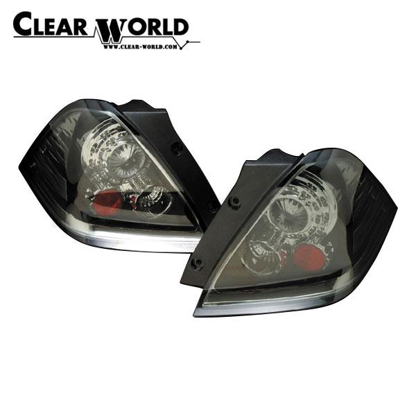 クリアワールド LEDユーロテールランプTYPE-2 インナークローム/スモークレンズ オデッセイ RB1 RB2 2003/10~2006/04 前期用