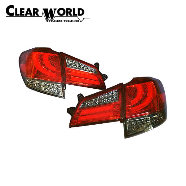 クリアワールド フルLEDテールランプ (シーケンシャルウインカー切替式) レッド/ライトスモークレンズ レガシィツーリングワゴン BR9 BRF BRG BRM 2009/05~2014/09 アウトバック含む