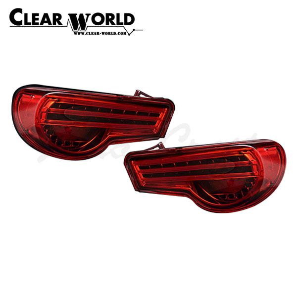 クリアワールド チューブデュアルLEDテールランプ シーケンシャルウインカー(切替式) レッドレンズ BRZ ZC6 2011/11~