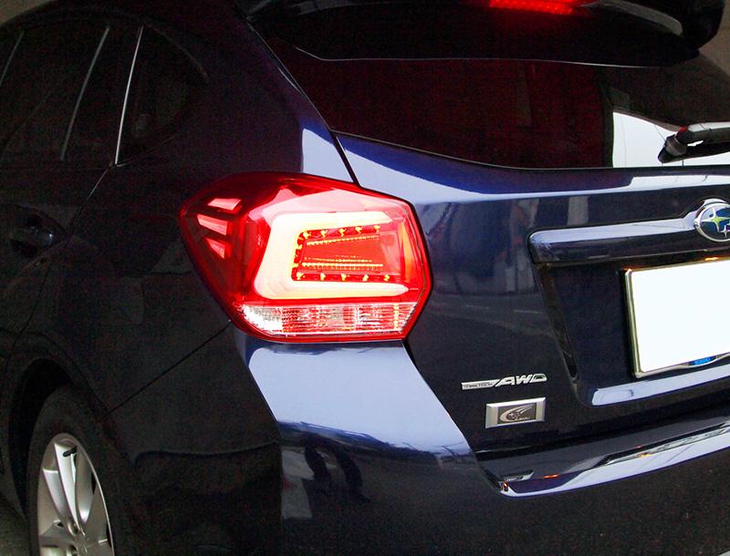 COLIN-SHREAD インプレッサスポーツGP用 LEDテールランプ メタルレッド/クリアレンズ 【インプレッサスポーツ [GP2/GP3/GP6/GP7] 2011.12~2016.11 (HYBRID車を除く)】 1台分左右セット