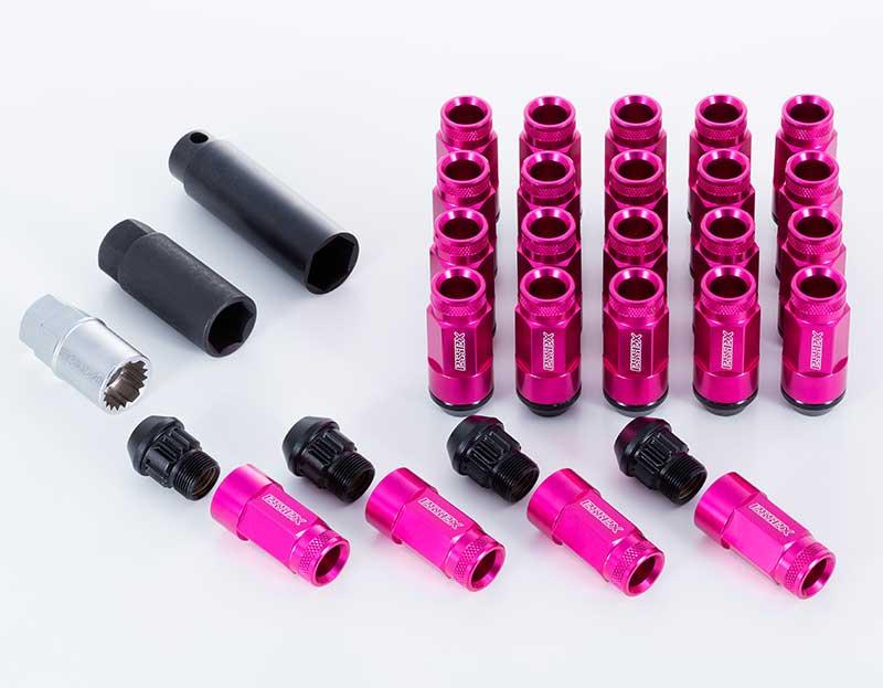 CRS ESSEX M12×P1.25 6穴用 2ピースシェルナット ローレット/ピンク 24本入 NV350キャラバン E26 2012年6月~