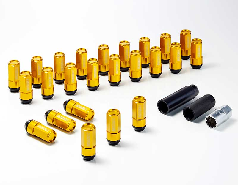 CRS ESSEX M12×P1.25 6穴用 2ピースシェルナット クローズ/ゴールド 24本入 NV350キャラバン E26 2012年6月~