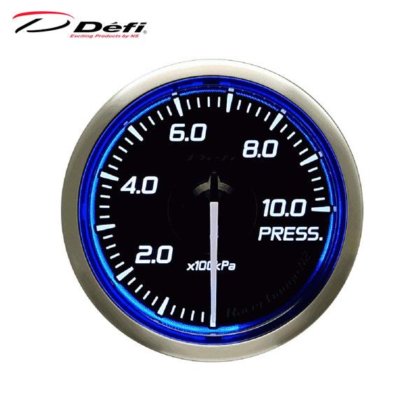 単体で動作する単眼のアナログメーターシリーズ Defi デフィ Racer Gauge N2 Φ52 圧力計 0~1000kPa