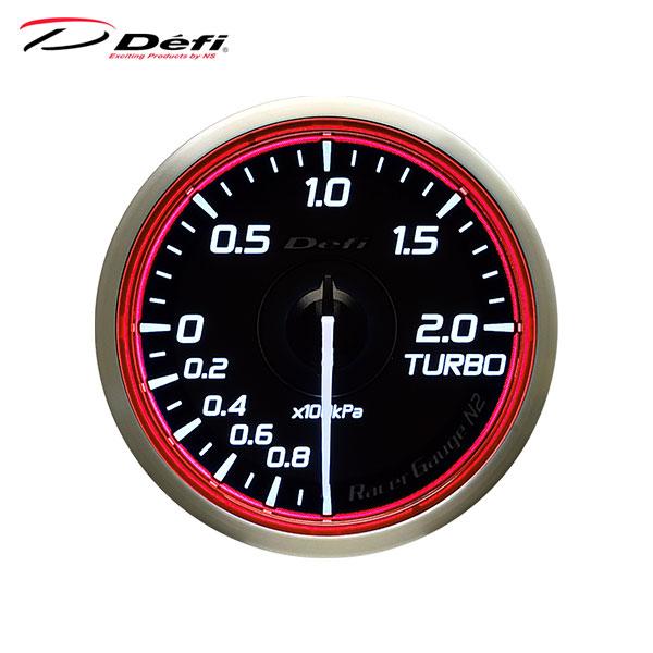 即出荷 単体で動作する単眼のアナログメーターシリーズ Defi デフィ Racer Gauge 日本限定 レッドモデル ターボ計 Φ60 N2 -100kPa~+200kPa