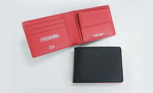 [DIXCEL] ディクセル 財布 (外)ブラック&(内)レッド