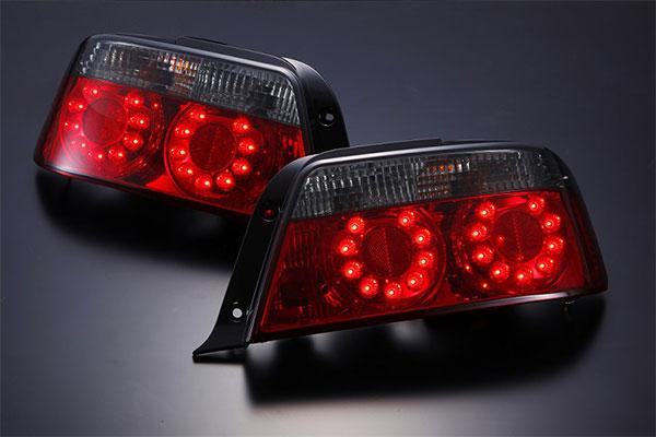 [D-MAX] LEDクリスタルテールランプ (スモーク) チェイサー JZX100