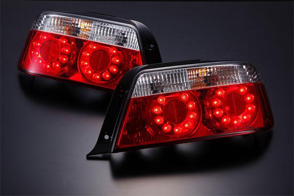 [D-MAX] LEDクリスタルテールランプ (クリア) チェイサー JZX100
