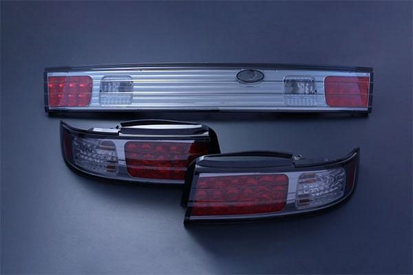 [D-MAX] LEDテールランプガーニッシュ 1台分セット (スモーク) シルビア S14