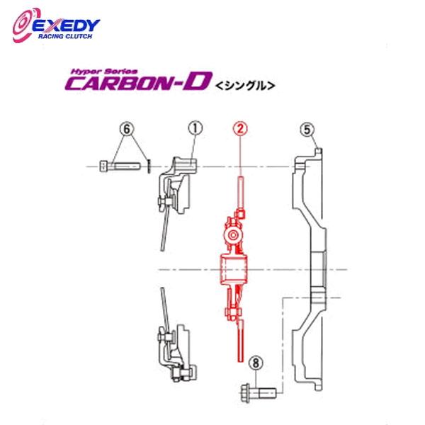 EXEDY エクセディ DH41D カーボンDシングル TH08SDMC1 (2)DISC ASSY BRZ