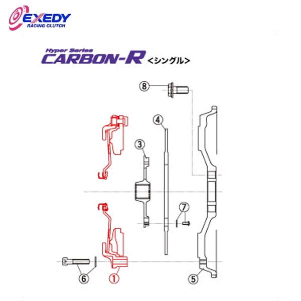 EXEDY エクセディ CH36S カーボンRシングル HH02SBMC1 (1)C.COVER ASSY シビック
