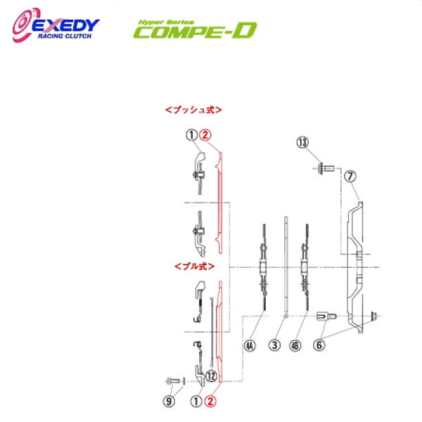 EXEDY エクセディ PP09 コンペD FM022SDL (2)P.PLATE インプレッサ GDB VAB