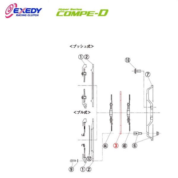 EXEDY エクセディ IM05 コンペD TM032SDL (3)I.M.PLATE チェイサー
