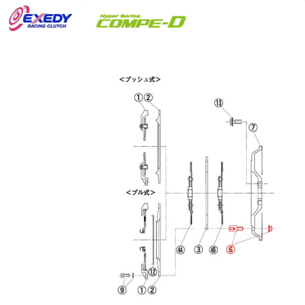 EXEDY エクセディ DB02 コンペD MM022SDL (6)D.BOSS SET ランサーエボ 4 5 6 7 8 9