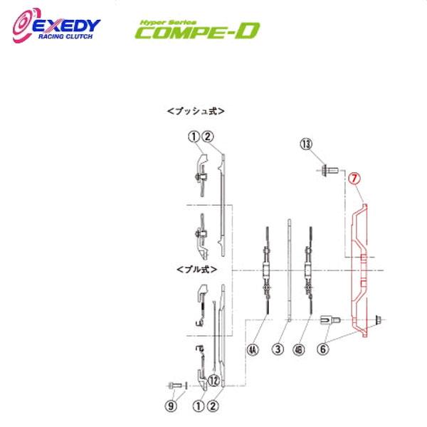 EXEDY エクセディ FM26 コンペD TM032SDL (7)FLYWHEEL チェイサー