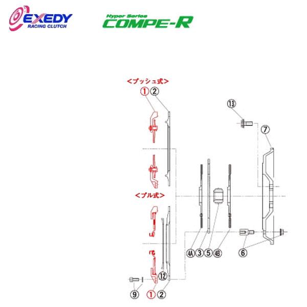 EXEDY エクセディ CM35S コンペR MM022SBL (1)C.COVER ランサーエボ 4 5 6 7 8 9