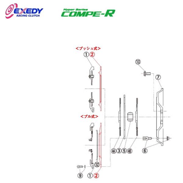 EXEDY エクセディ PP09 コンペR FM012SBL (2)P.PLATE インプレッサ GC8