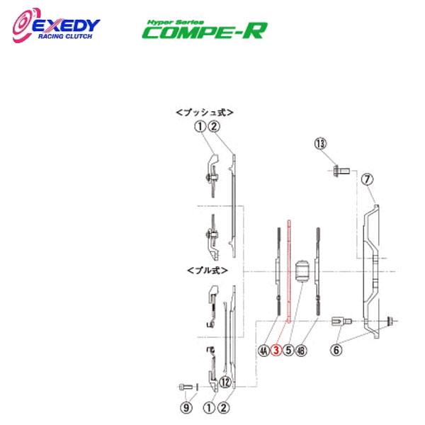 EXEDY エクセディ IM05 コンペR MM062SBL (3)I.M.PLATE ランサーエボ 10