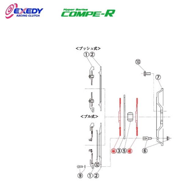 EXEDY エクセディ DL01R コンペR FM012SBL (4)DISC ASSY インプレッサ GC8