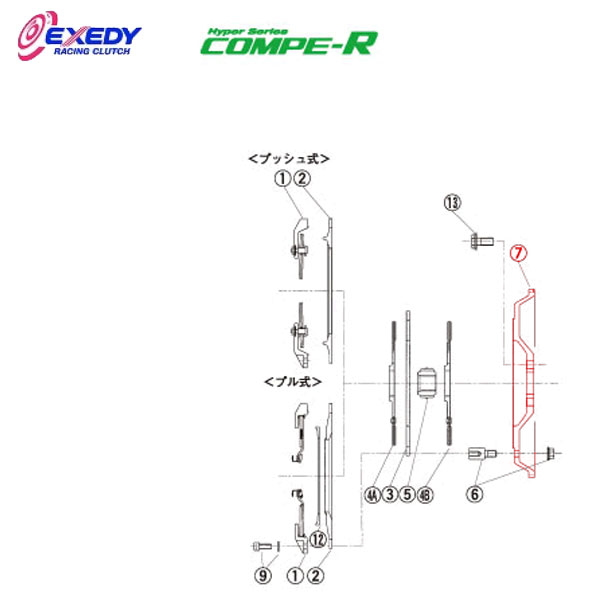 EXEDY エクセディ FM22 コンペR ZM022SBL (7)FLYWHEEL RX-7 FD3S