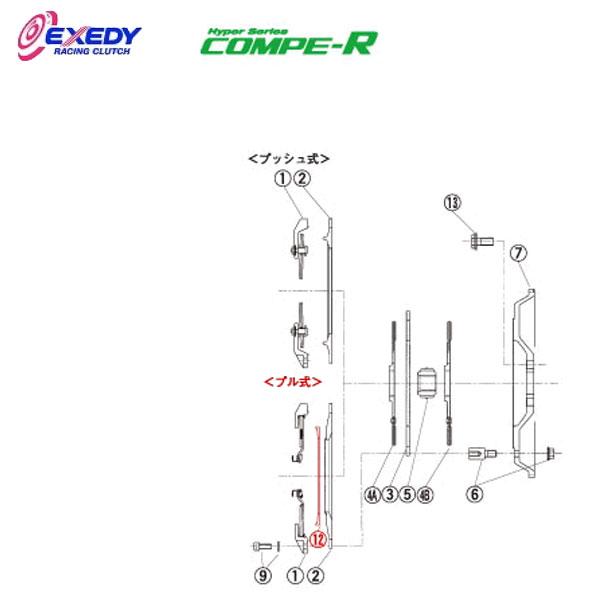 EXEDY エクセディ PR02 コンペR MM062SBL (12)PVT.RING ランサーエボ 10
