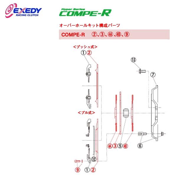 EXEDY エクセディ OH37 コンペR MM022SBL オーバーホールキット ランサーエボ 4 5 6 7 8 9