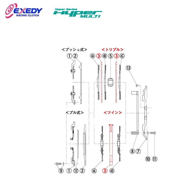 EXEDY エクセディ IM01 ハイパーマルチ MM062SD (3)I.M.PLATE ランサーエボ 10