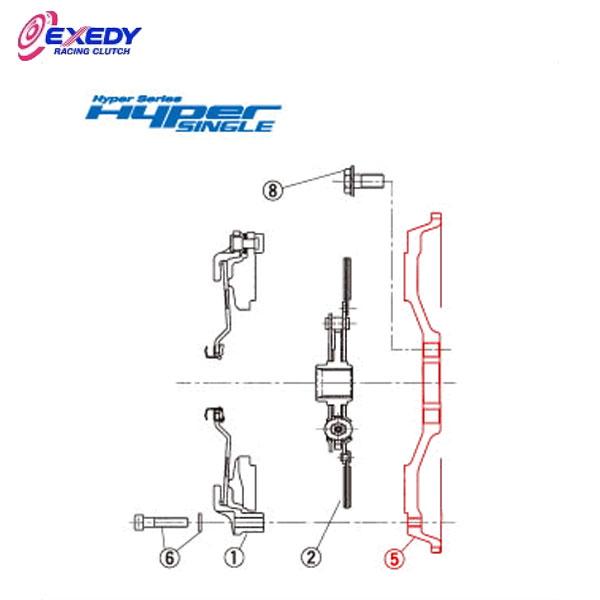 EXEDY エクセディ FH10 ハイパーシングルUF HH03SDF (5)FLYWHEEL インテグラ K型