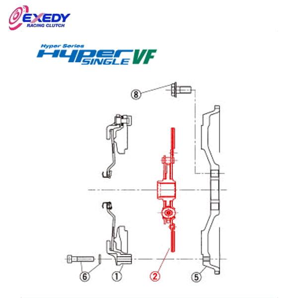 EXEDY エクセディ DH32D ハイパーシングルVF FH03SDV (2)DISC ASSY インプレッサ GDA GH8