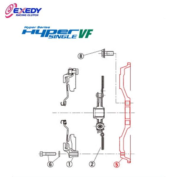 EXEDY エクセディ FH41 ハイパーシングルVF MH01SDV (5)FLYWHEEL ランサーエボ 4 5 6 7 8 9