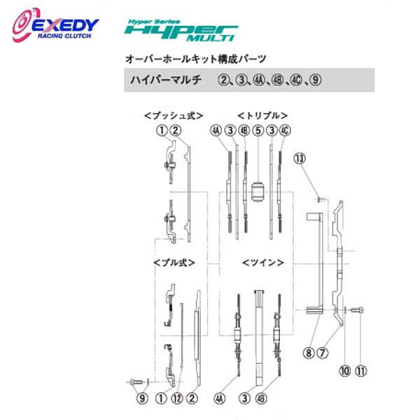 EXEDY エクセディ DM07DA ハイパーマルチ TM042SD (4-A)(4-B)DISC ASSY スープラ