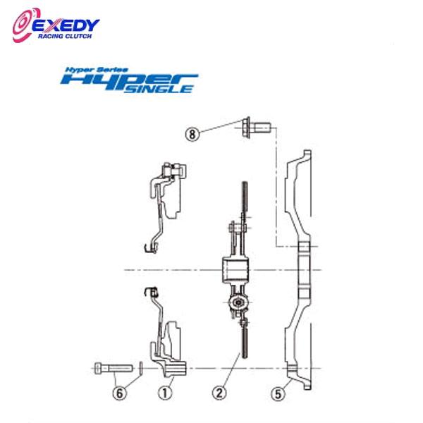 EXEDY エクセディ DH07D1 ハイパーシングル TH04SD1 (2)DISC ASSY チェイサー