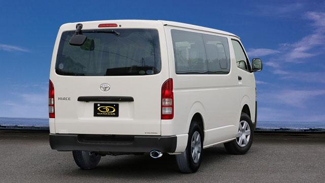 GANADOR ガナドール マフラー eco10 ハイエースバン / レジアスエースバン QDF-GDH201V 2017/12~ 1GD-FTV (2754cc ディーゼル) 2WD/4WD 6AT [ディーゼル / 標準バンパー] 個人宅配送不可 沖縄・離島は要確認