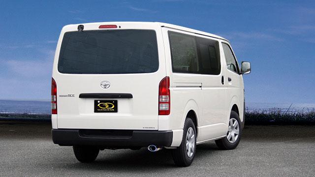 GANADOR ガナドール マフラー eco10 ハイエースバン / レジアスエースバン CBF-TRH200V 2004/8~2014/12 1TR-FE (1998ccガソリン) 2WD 4AT [DX / スーパーGL / 標準ルーフ / 標準フロア ] 個人宅配送不可 沖縄・離島は要確認