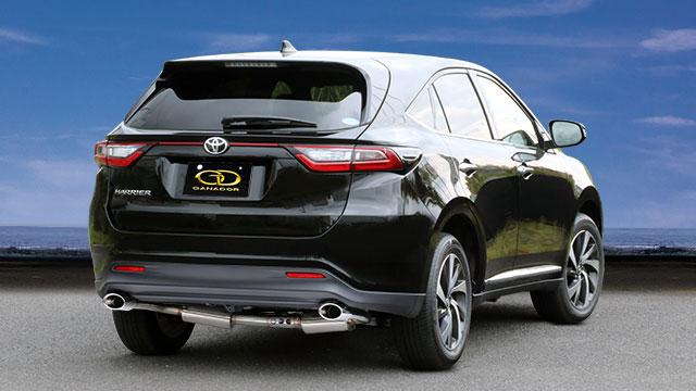 GANADOR ガナドール マフラー Vertex 4WD/SUV ハリアー DBA-ASU60W ASU65W 2017/6~ 8AR-FTS (1998cc) 2WD/4WD [標準バンパー] 個人宅配送不可 沖縄・離島は要確認