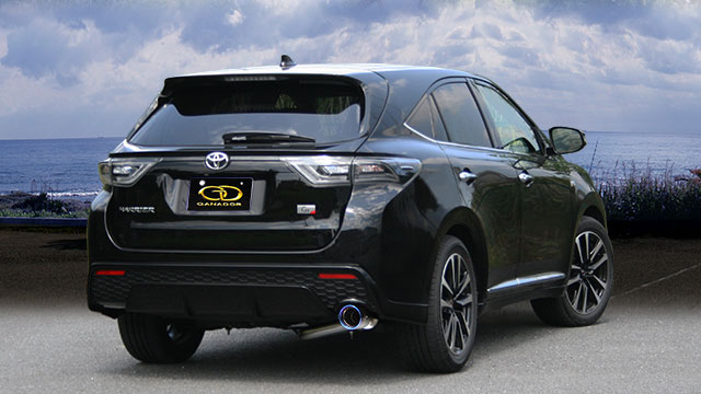 再再販! GANADOR ガナドール マフラー Vertex 4WD/SUV ハリアー DBA-ZSU60W 2015/1~2017/5 [ELEGANCE 2015 Vertex/1~2017/5 3ZR-FAE (1986cc) 2WD [ELEGANCE