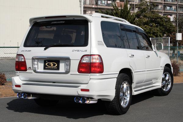 GANADOR ガナドール マフラー Vertex 4WD/SUV ランドクルーザー100 (シグナス含む) GH-UZJ100W 1998/01~2007/09 2UZ-FE (4700cc) [ガソリン / 標準バンパー] 個人宅配送不可 沖縄・離島は要確認
