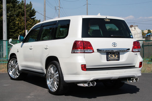 GANADOR ガナドール マフラー Vertex 4WD/SUV ランドクルーザー200 CBA-UZJ200W 2007/09~2009/04 2UZ-FE (4700cc) [前期 / 純正リヤバンパースポイラー] 個人宅配送不可 沖縄・離島は要確認