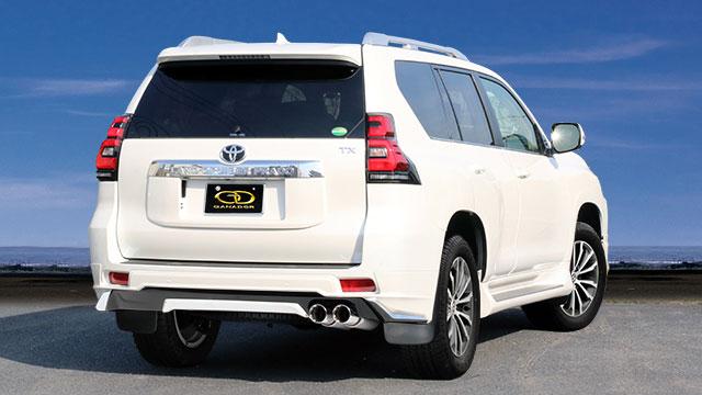 GANADOR ガナドール マフラー Vertex 4WD/SUV ランドクルーザープラド LDA-GDJ150W GDJ151W   2017/9~ 1GD-FTV (2754ccディーゼル) [モデリスタリヤスカート] 個人宅配送不可 沖縄・離島は要確認