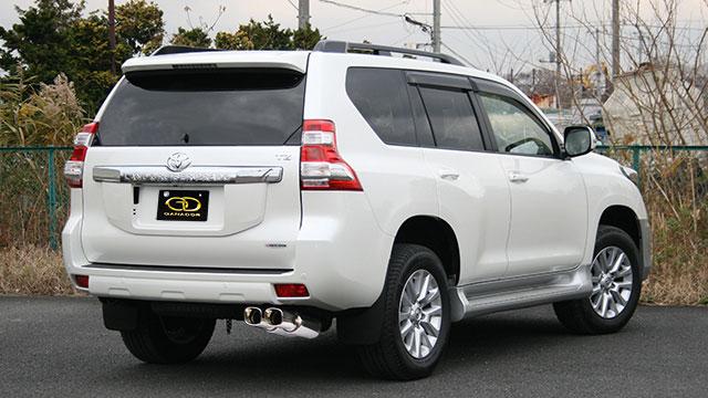 GANADOR ガナドール マフラー Vertex 4WD/SUV ランドクルーザープラド CBA-GRJ151W 2009/09~ 1GR-FE (4000cc) [標準バンパー] 個人宅配送不可 沖縄・離島は要確認