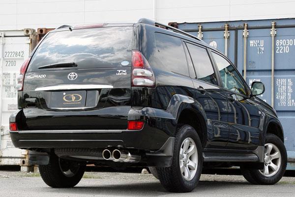 GANADOR ガナドール マフラー Vertex 4WD/SUV ランドクルーザープラド CBA-GRJ120W 2005/8~2009/9 1GR-FE [標準バンパー] 個人宅配送不可 沖縄・離島は要確認
