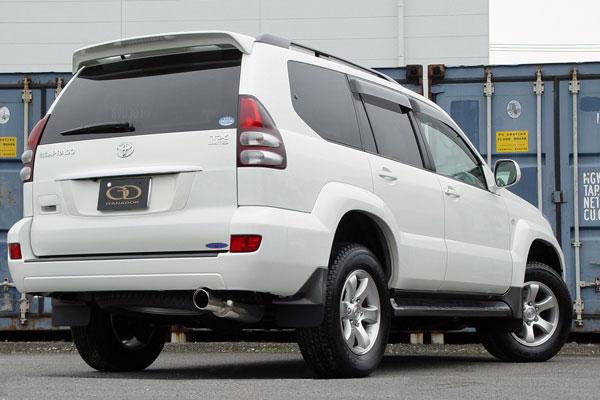 GANADOR ガナドール マフラー Vertex 4WD/SUV ランドクルーザープラド CBA-TRJ120W 2004/8~ 2TR-FE [標準バンパー] 個人宅配送不可 沖縄・離島は要確認