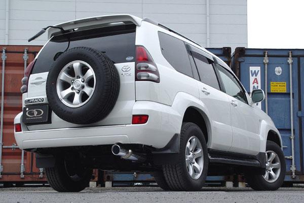 GANADOR ガナドール マフラー Vertex 4WD/SUV ランドクルーザープラド LA-RZJ120W TA-VZJ120W TA-VZJ121W 2002/10~2005/7 3RZ-FE / 5VZ-FE [標準バンパー] 個人宅配送不可 沖縄・離島は要確認