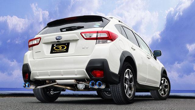 GANADOR ガナドール マフラー Vertex 4WD/SUV XV DBA-GT7 2017/5~ FB20 (1995cc) AWD リニアトロニック [標準バンパー] 個人宅配送不可 沖縄・離島は要確認