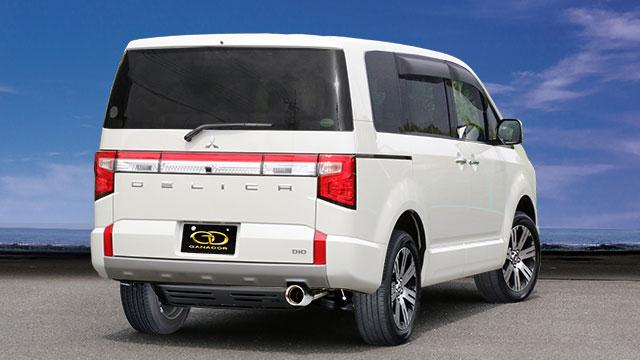 GANADOR ガナドール マフラー Vertex 4WD/SUV デリカD:5 3DA-CV1W 2019/2~ 4N14 (2267cc) 4WD [ディーゼル / 標準バンパー] 個人宅配送不可 沖縄・離島は要確認