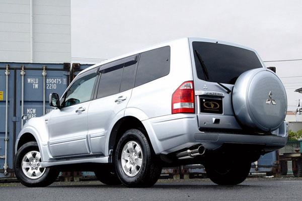 GANADOR ガナドール マフラー Vertex 4WD/SUV パジェロ LA-V73W 2002/9~2006/10 6G72 [ロング / 標準バンパー] 個人宅配送不可 沖縄・離島は要確認