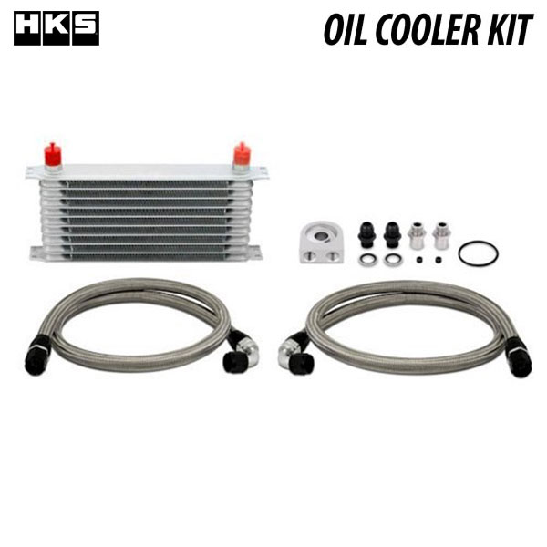 最適なコアサイズ、レイアウトが冷却性をアップ [HKS] 車種別オイルクーラーキット S type ラジエター前 フェアレディZ Z34 08/12~ VQ37VHR シングルコアキット