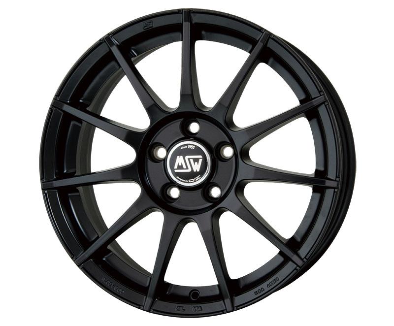 HOTSTUFF MSW85 輸入車用アルミホイール1本 BMW/ミニクロスオーバー 16×6.5J 5H PCD120 +45 セミグロスブラック(SGBK) 4本購入で送料無料! ※詳細は送料表をご確認ください。